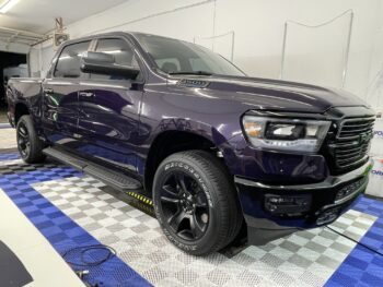 Truck with DYNO Purple Paint Protection Film